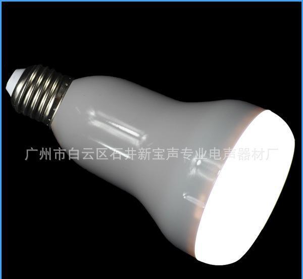 LED蓝牙音箱球泡灯 会唱歌的灯 蓝牙连接播放 卧室酒吧音乐